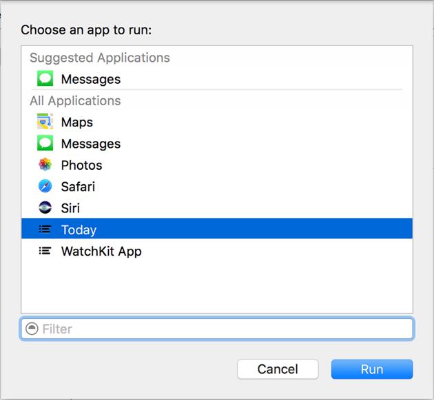 Choose App Menu