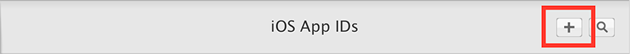 Add New iOS App ID
