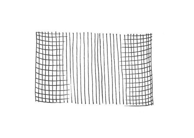 A crosshatching by volume