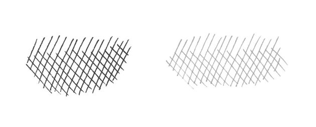 An example of a cross-hatching