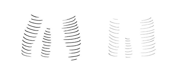 An example of a contour hatching