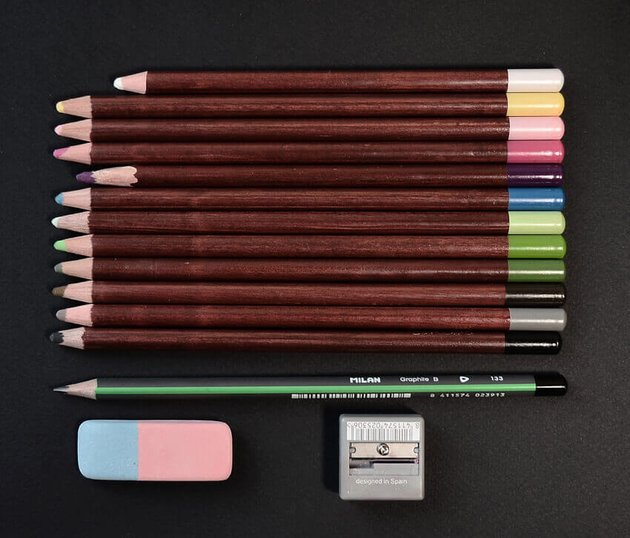 The art supplies I will be using