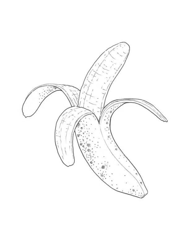 Marking the pattern of the banana skin