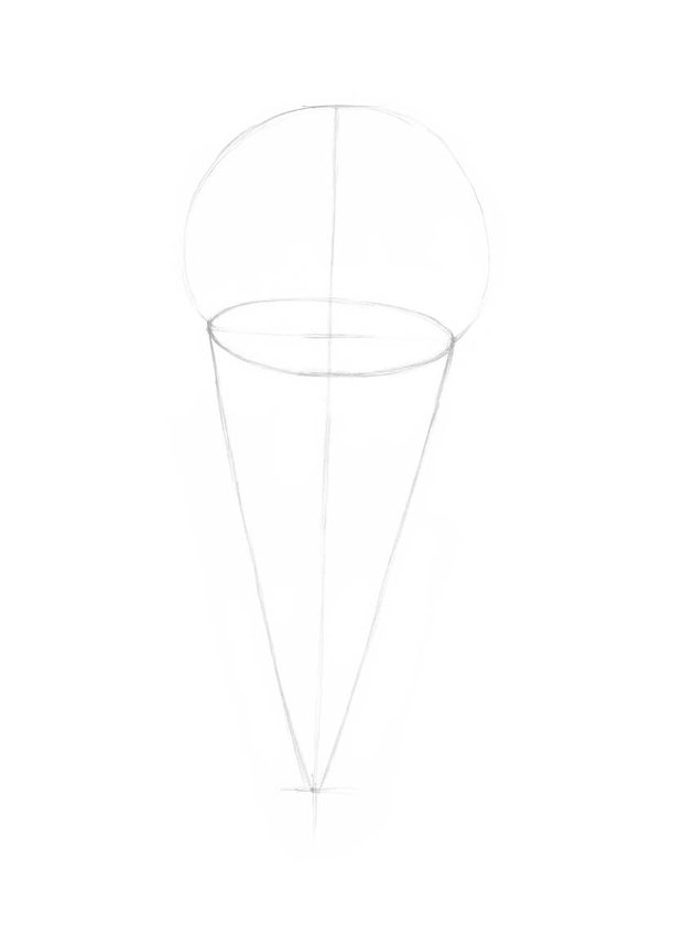 Drawing the opening of the cone
