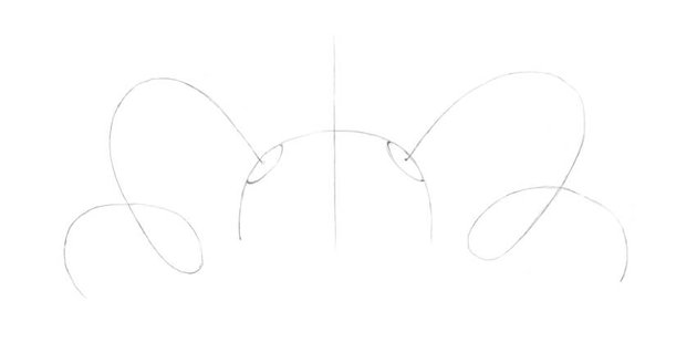 Drawing the curved core lines