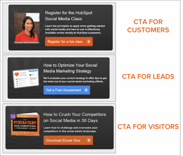 Examples of personalized calls-to-action