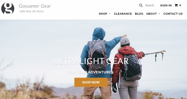 Clear website homepage value proposition example