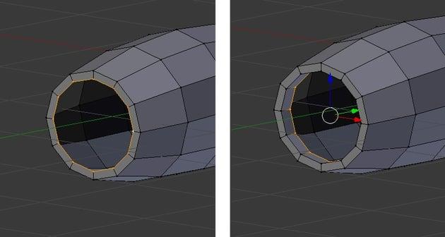 Extrude vertices inwards