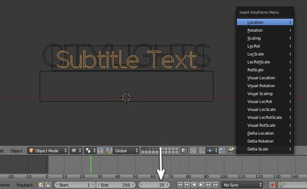 Animate the second text object
