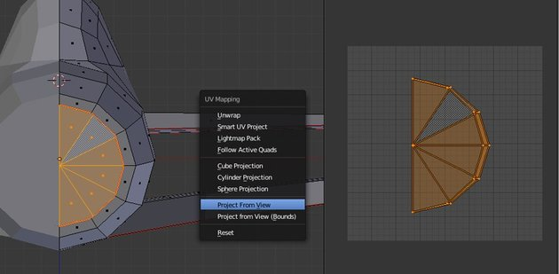 UV map the front part