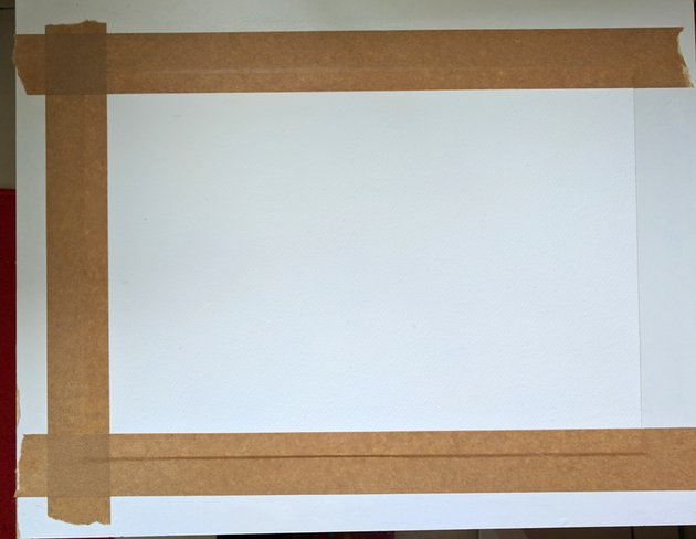 Paper with three strips of tape