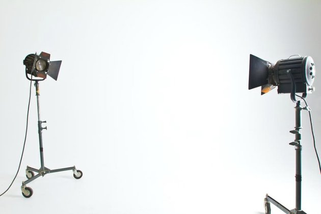 Photo of a pair of simple studio lights Photo by Tyler Hendy