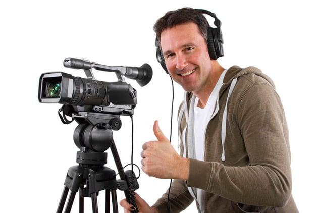 Cameraman gives thumbs up