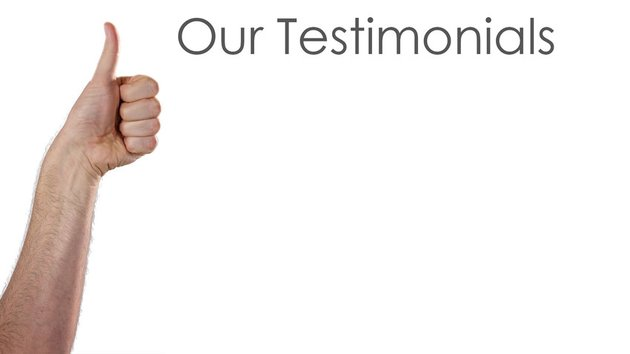 Thumbs up to Our Testimonials