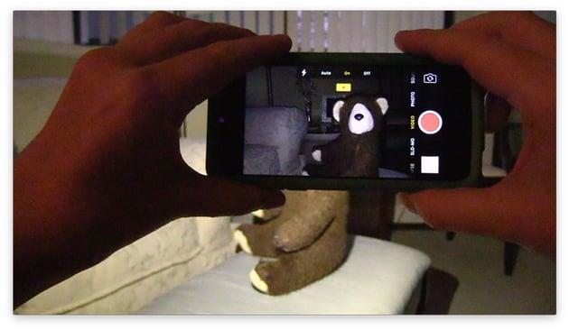 Smartphone using built-in flash