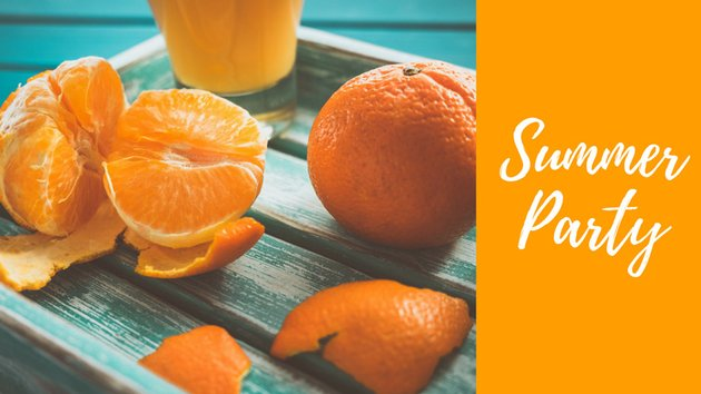 Video thumbnail with pieces of orange