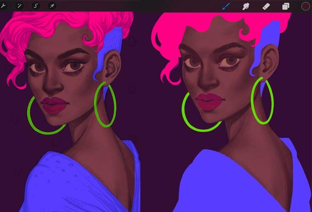 Procreate Portrait Painting Tutorial second shadows layer