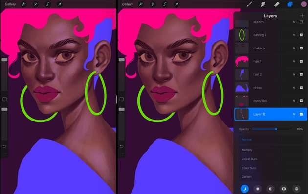 How to Paint a Portrait in Procreate Tutorial new highlights layer