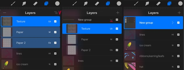 create a layers group