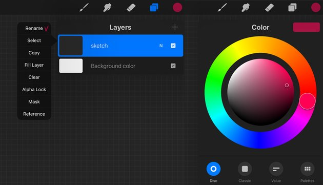 rename a new layer