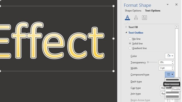 Word Text Outline options -- Compound Type