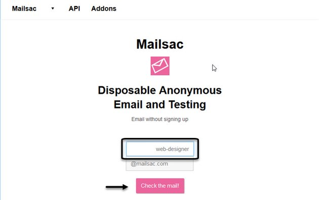 Mailsac Disposable Email Address