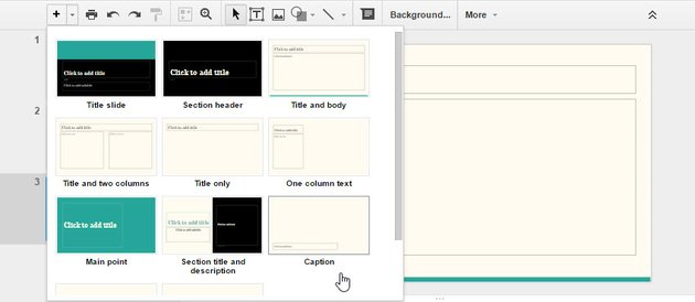 How to Use Google Slides and Select a slide layout
