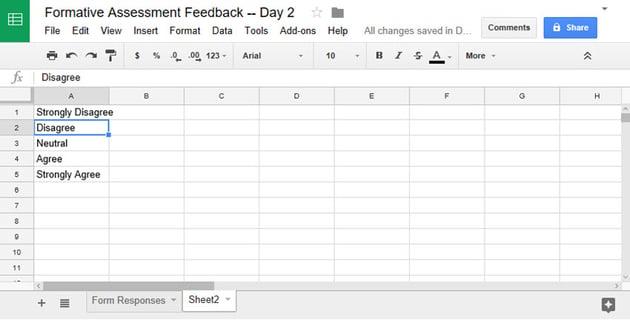 Enter Google Forms responses