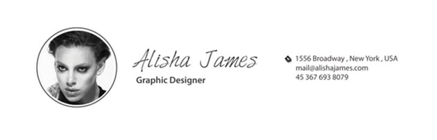 resume with signature