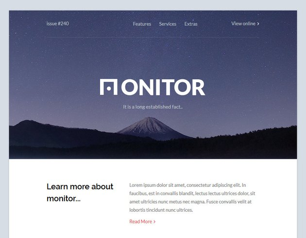 Monitor email template