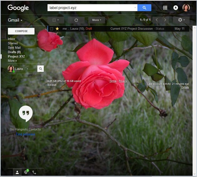 Apply darker edges to your Gmail theme background