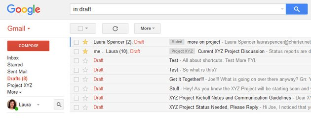 Example of Gmail Inbox with compact density