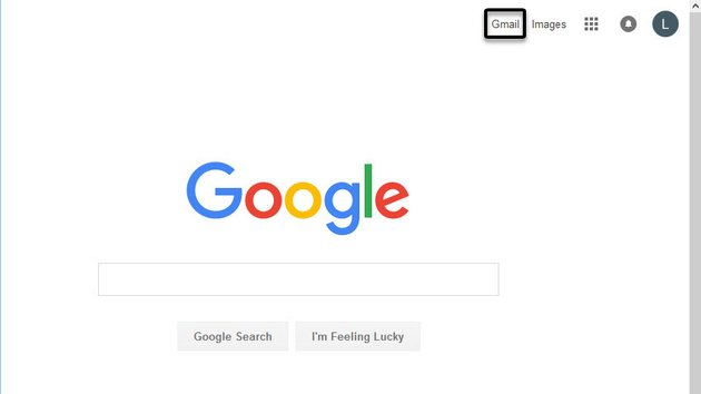 Main Google screen with gmail sign in