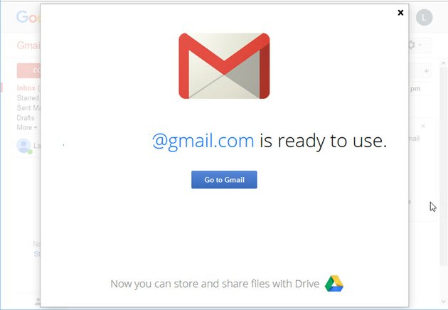 New Gmail account ready