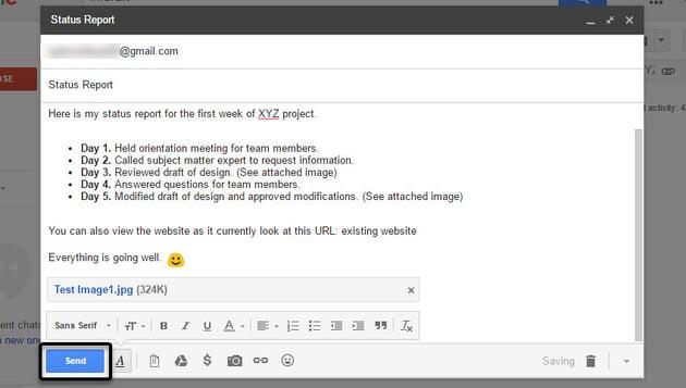 Send button in Gmail