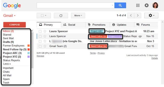 Gmail labels