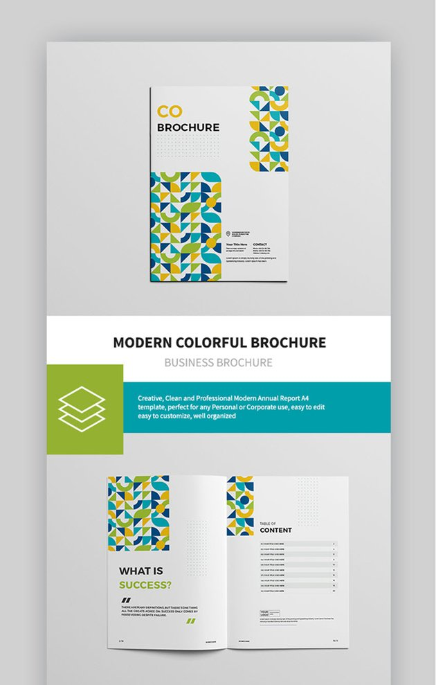 Modern Colorful Brochure Annual Report Template