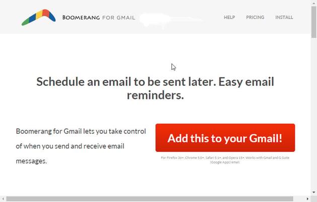 Boomerang for Gmail Addon