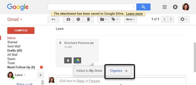 Google drive prompts