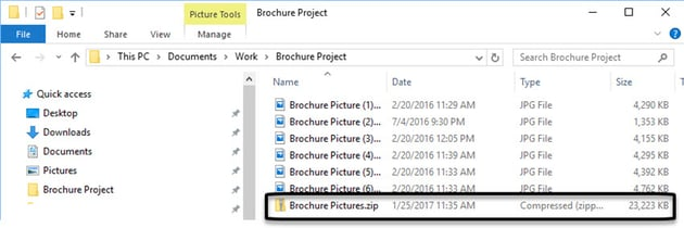 Zipped files