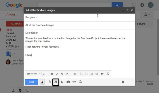 Create a new Gmail message
