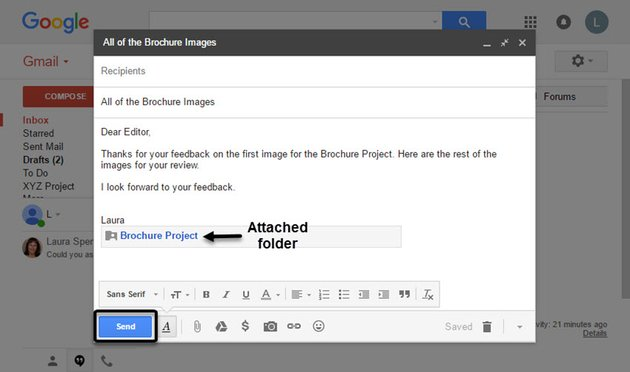 Folder attached to Gmail