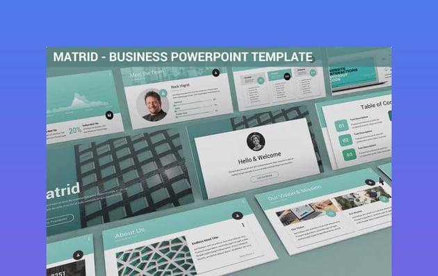 Matrid - Plantilla PowerPoint para Negocios