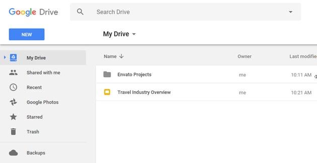 Google Drive Slides