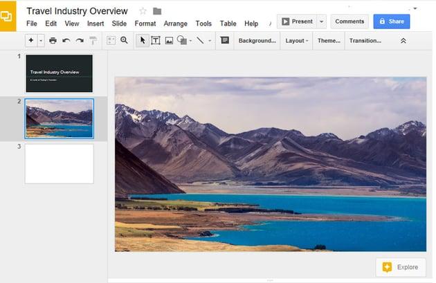 Inserted Image in Google Slides