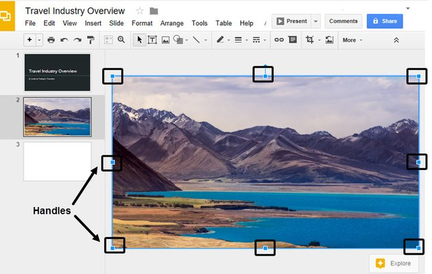 Work with Image Handles in Google Slides