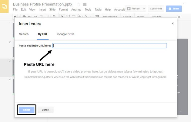 Prompt for Video URL