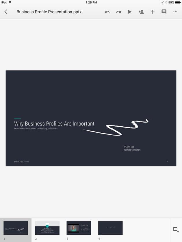 Open Google Slides Presentation
