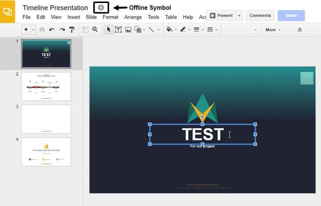 Making Google Slides Edits While Offline
