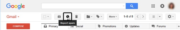 Gmail SPAM button